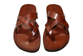 Brown Comply Leather Sandals - New Collection - £47.41 GBP