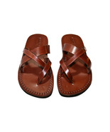 Brown Comply Leather Sandals - New Collection - $60.00