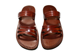 Brown Sting Leather Sandals - New Collection - £47.41 GBP