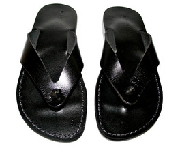 Black Surf Leather Sandals - $60.00