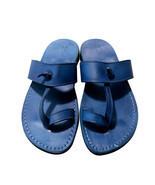Blue Twizzle Leather Sandals - $80.00