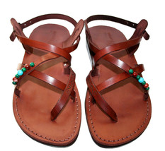 Brown Decor Triple Leather Sandals - $75.00