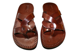 Brown Twister Leather Sandals - New Collection - $60.00