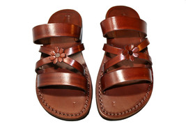 Brown Bio-Pop Leather Sandals - New Collection - $65.00