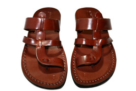 Brown Limbra Leather Sandals - £47.41 GBP