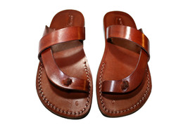 Brown Earth Leather Sandals - New Collection - $60.00