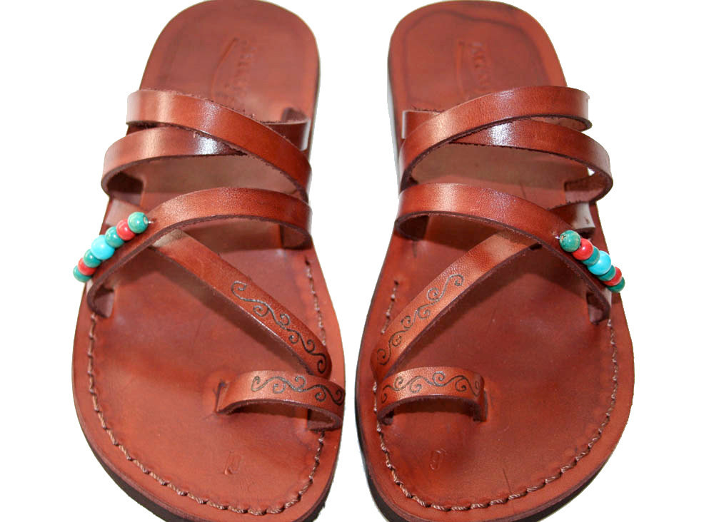 Primary image for Brown Decor Buckle-Free Leather Sandals