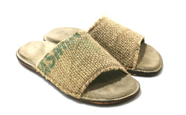 Beige FLATS Leather & Recycled Utah Sandals - Anatomic Soles - $95.00