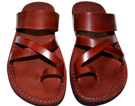 Brown Bath Leather Sandals - £47.41 GBP
