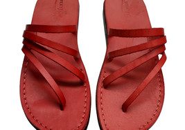 Red Rainbow Leather Sandals - $80.00