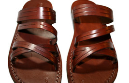 Brown Swing Leather Sandals - New Collection - $60.00