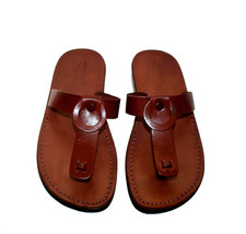 Brown Ring Leather Sandals - £47.41 GBP