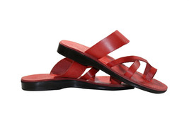 Red Bath Leather Sandals - $80.00