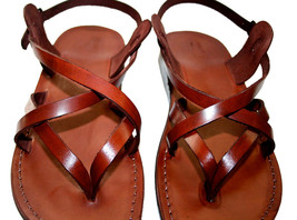 Brown Mix Leather Sandals - £51.36 GBP