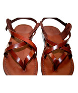 Brown Mix Leather Sandals - $65.00
