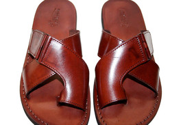 Brown Tiger Leather Sandals - $65.00