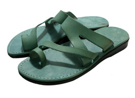 Green Zing Leather Sandals - $80.00
