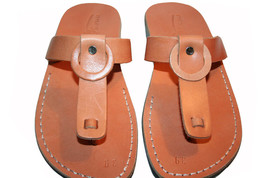 Caramel Ring Leather Sandals - $60.00