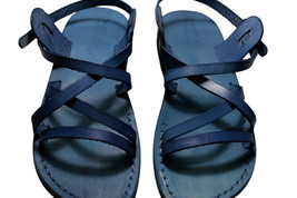 Blue Star Leather Sandals - $85.00