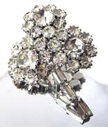 Juliana D&E Crystal Brooch Baguette Rhinestone ... - $48.00