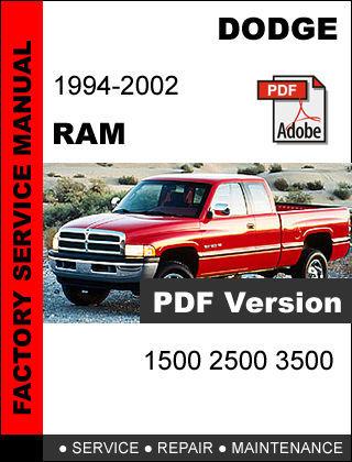 dodge ram 1994 1995 1996 1997 1998 1999 2001 2002 factory. Black Bedroom Furniture Sets. Home Design Ideas