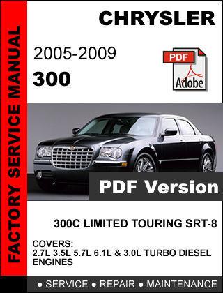 chrysler 300 2005 2006 2007 2008 2009 factory service. Black Bedroom Furniture Sets. Home Design Ideas