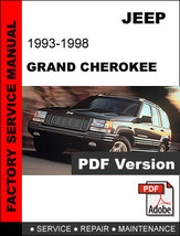 JEEP GRAND CHEROKEE 1993 1994 1995 1996 1997 1998 FACTORY SERVICE REPAIR... - $14.95