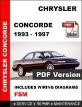 CHRYSLER CONCORDE 1993 1994 1995 1996 1997 FACTORY SERVICE REPAIR OEM MA... - $14.95