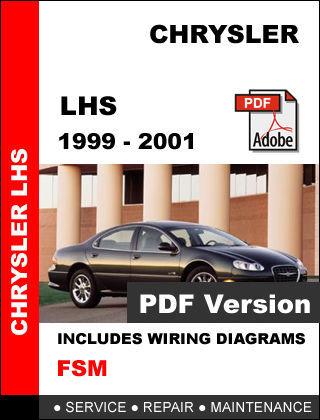 CHRYSLER LHS 1999 2000 2001 FACTORY SERVICE REPAIR WORKSHOP MAINTENANCE MANUAL