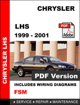 CHRYSLER LHS 1999 2000 2001 FACTORY SERVICE REPAIR WORKSHOP MAINTENANCE ... - $14.95