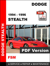 DODGE STEALTH 1994 1995 1996 FACTORY SERVICE REPAIR WORKSHOP SHOP OEM MA... - $14.95