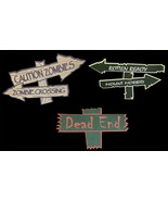 Halloween Decorations FOAM SIGNS Haunted House Crafts Prop Building Supp... - $4.72