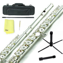 Sky Silver Plated Open Hole C Flute w Case, Stand, Cleaning Rod, Cloth a... - $149.99
