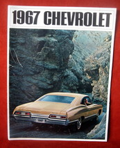 Vintage Dealership 1967 Chevrolet Chevy Sales Brochure Caprice Impala Be... - $48.35