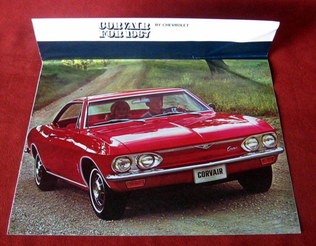Primary image for Vintage Dealership 1967 Chevrolet Chevy Sales Brochure Corvair Monza 500 Car FS