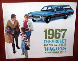 Vintage Dealership 1967 Chevrolet Chevy Sales Brochure Station Wagon Che... - $48.35