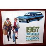 Vintage Dealership 1967 Chevrolet Chevy Sales Brochure Station Wagon Che... - $48.35