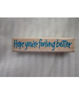 Vintage Hope You're Feeling Better Hero Arts Ru... - $2.50