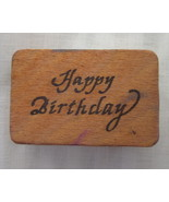 Vintage Happy Birthday Co-Motion Stamps Rubber ... - $2.49