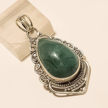 Natural Royston Tonopah Turquoise Pendant 925 Sterling Silver Boho Style Jewelry - $26.91