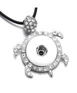 DIY Snap Jewelry Crystal Tortoise Snap Pendant Necklace Fit 18MM Snap Bu... - $9.46