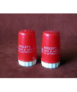 Vintage Salt Pepper Shakers Advertising Nissley's Ephrata Myerstown PA G... - $14.48