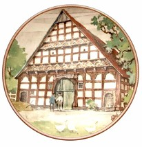 Westfalenhaus aus Delbruck Karl Bedal German Half Timbered Houses Plate - $34.59