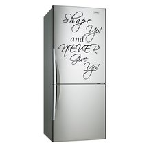( 10'' x 16'') Vinyl Wall Decal Quote Shape up and Never Give Up / Inspirational - $16.64
