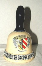 Germany Hand Bell Germany Blue Ivory  Nuremberg Crest Collectibles Porc... - $18.80
