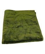 "Bath Towel 49""x26"" Forest Green Vintage Thick Soft Retro Mid Century - $21.78"