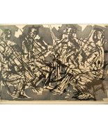 Eugene D. Larkin (1921 - 2010) . Listed artist . Woodcut Print . Quartet... - $3,995.00
