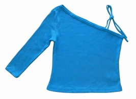 Girls Size S Turquoise Blue Ribbed One Shoulder Top  - $3.99