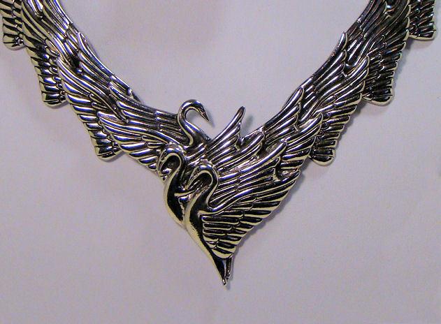 Unusual Laurel Burch Swan Collar Necklace Choker