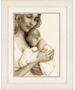 Mother and Child 14ct aida baby birth cross sti... - $32.40